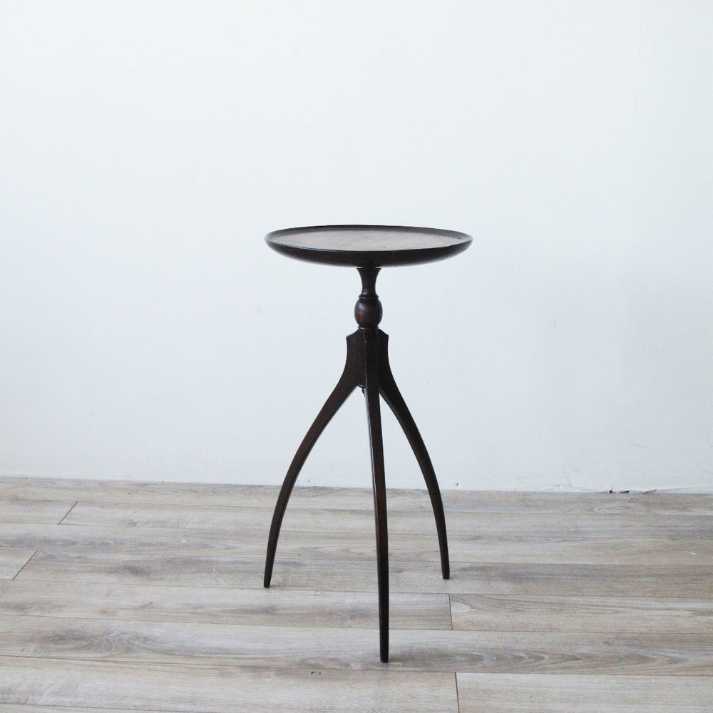 Spider Leg Mahogany Tripod Table