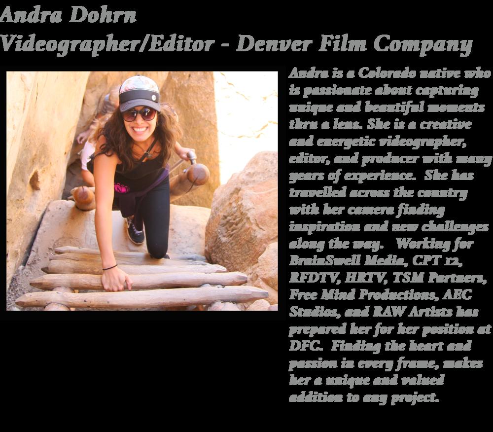 Andra Denver Film Company Music video adventure shot
