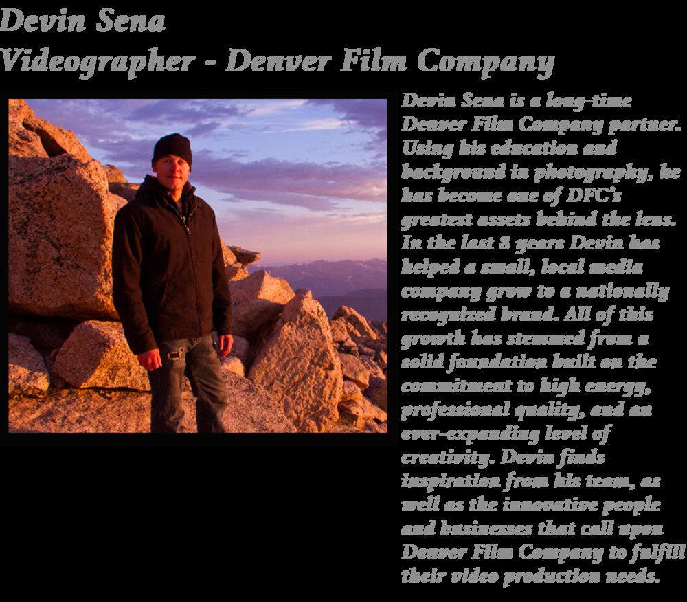 videographer colorado film production video denver