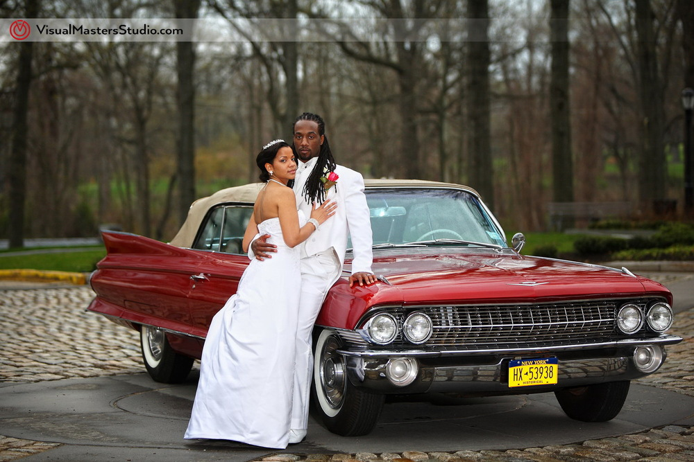 Bride and Groom portrait at Pelham Bay & Split Rock Golf Course by VisualMasters