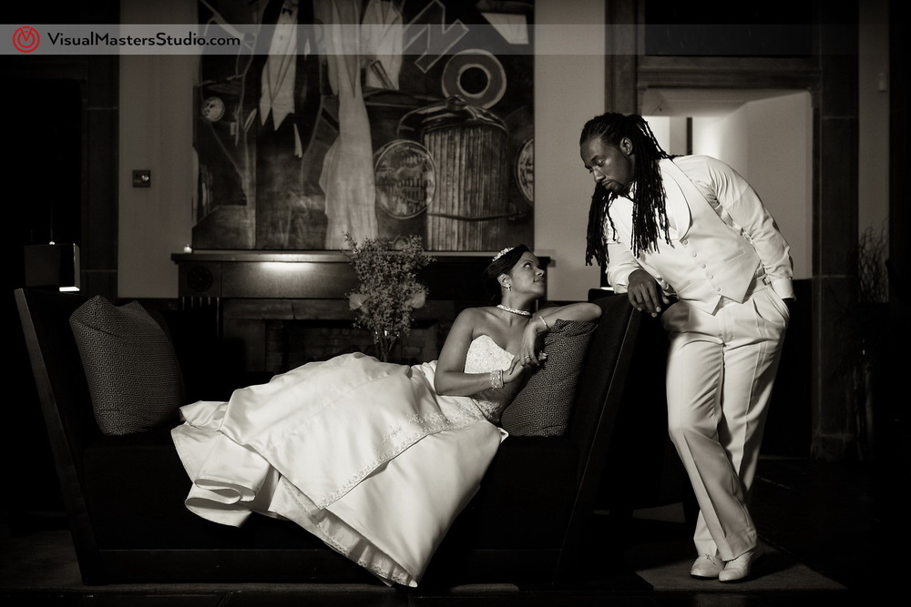 Timeless image of Bride and Groom at Pelham Bay & Split Rock Golf Course by VisualMasters