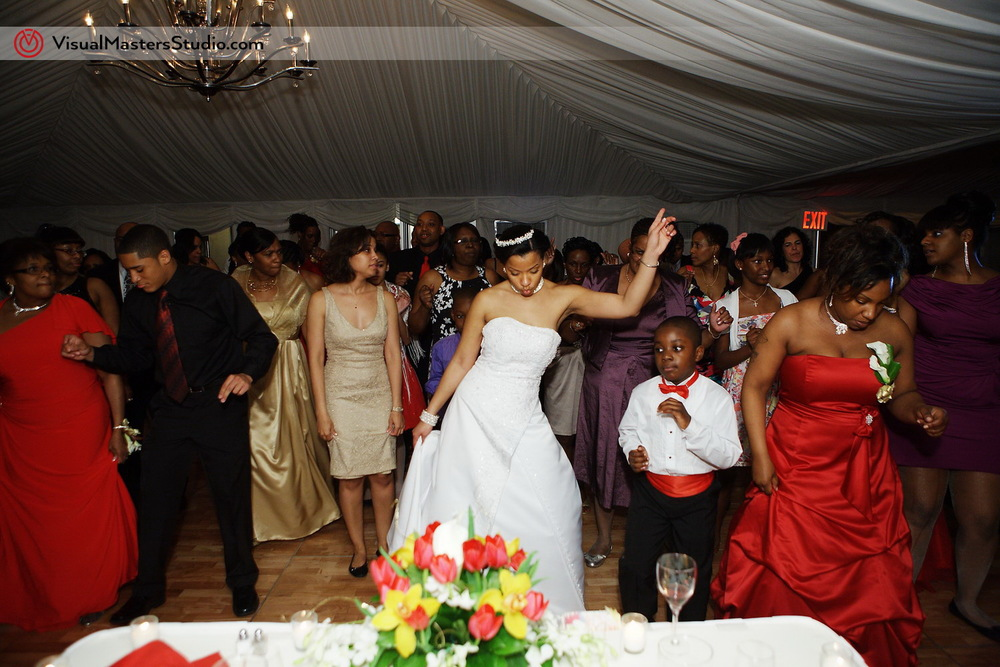 Bride Dancing at Pelham Bay & Split Rock Golf Course by VisualMasters