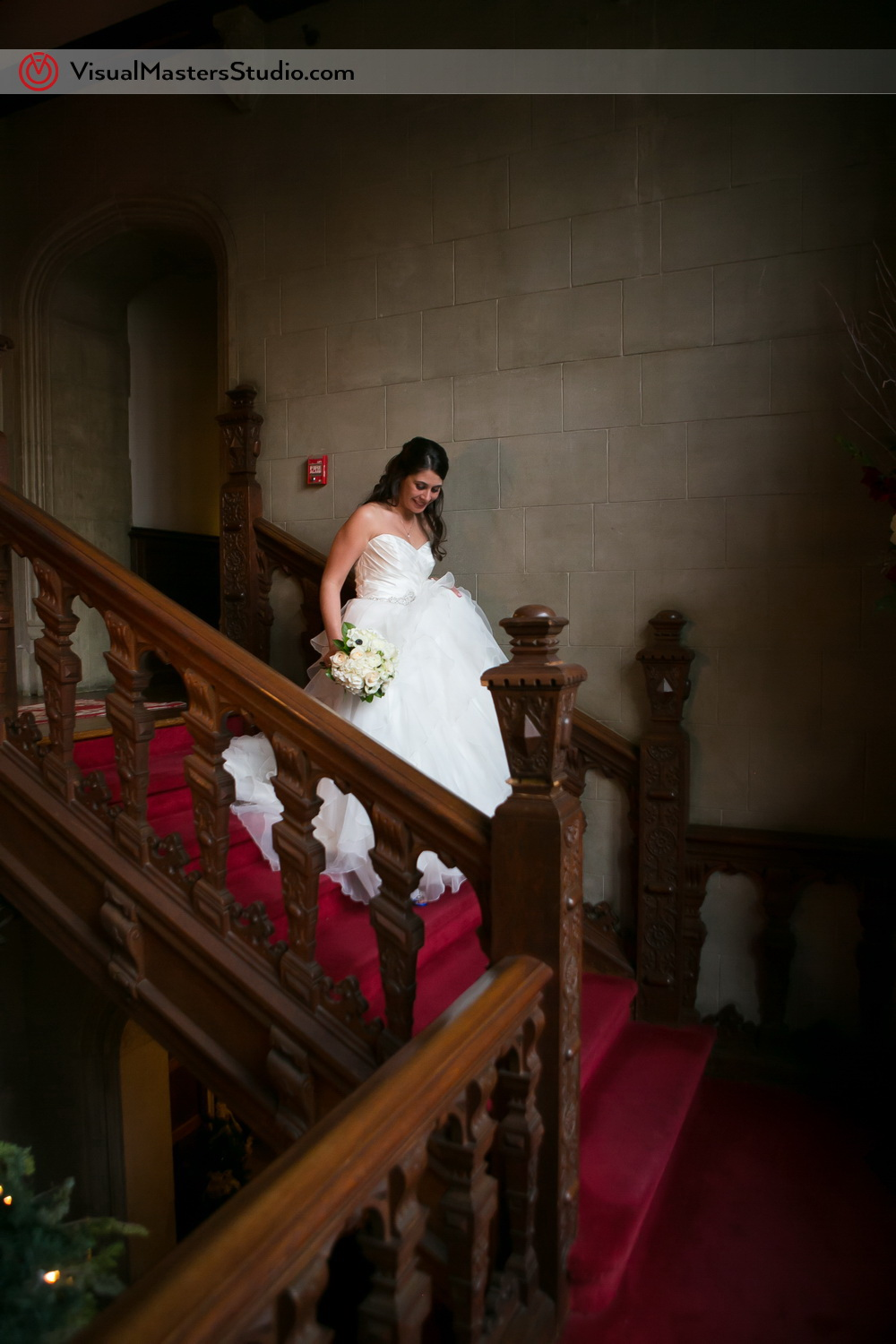 Candid Shot of the Bride at The Castle at Skylands Manor by Visual Masters