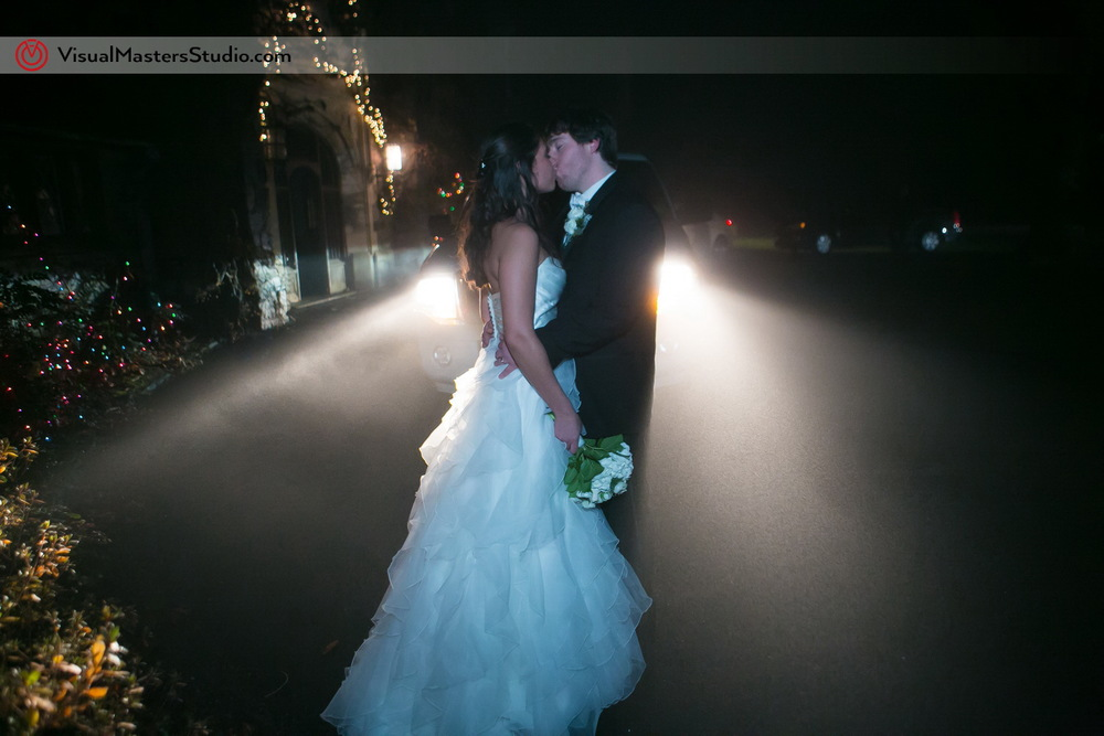 Bride and Groom Portrait at The Castle at Skylands Manor by Visual Masters