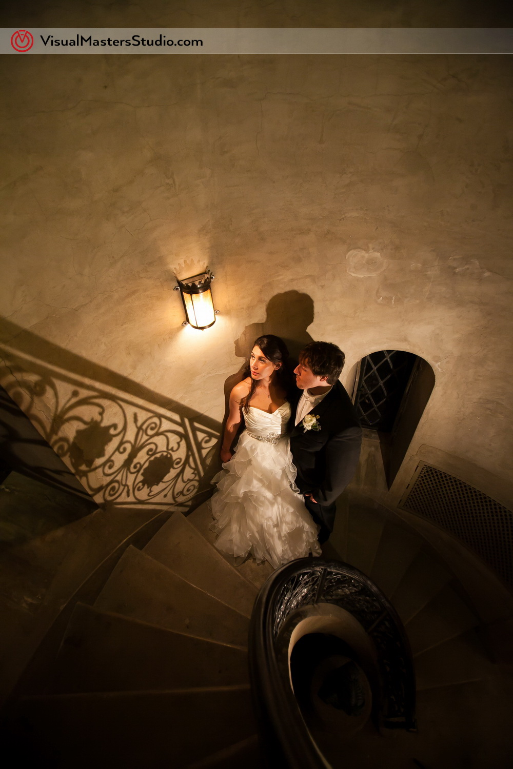 On the steps at The Castle at Skylands Manor by Visual Masters