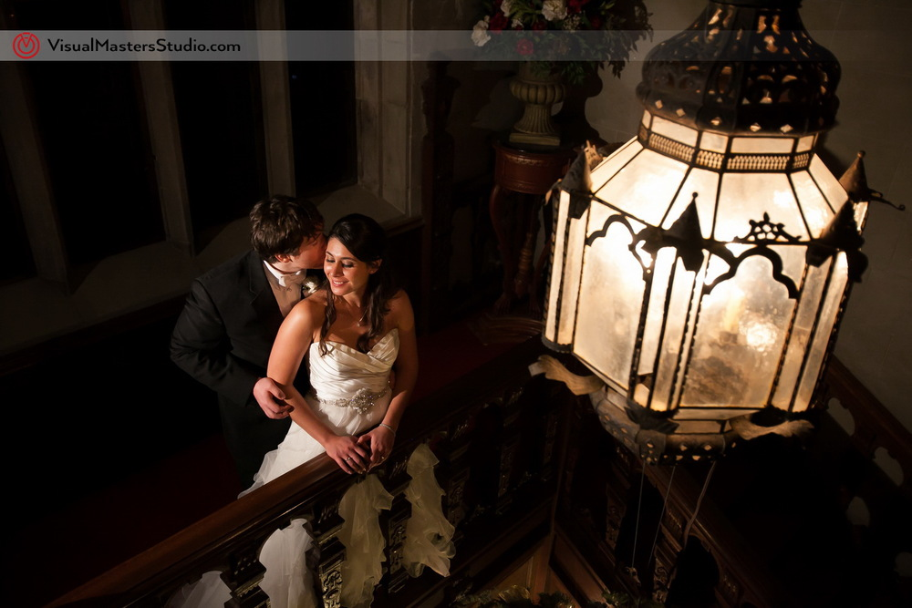 Beautifual Gas Chandelier Light at The Castle at Skylands Manor by Visual Masters