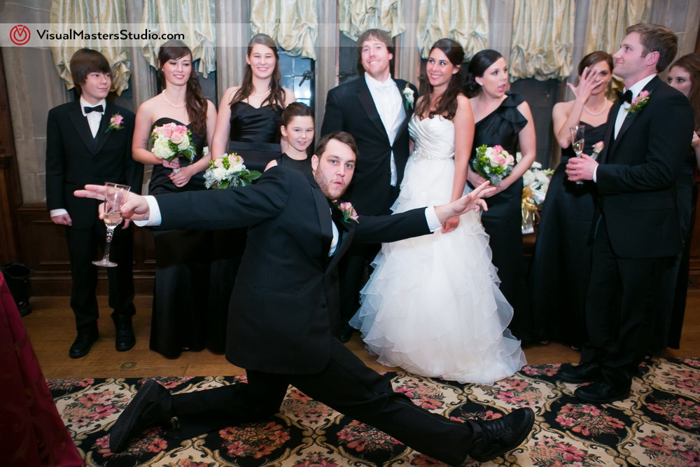 Wedding Party at The Castle at Skylands Manor by Visual Masters
