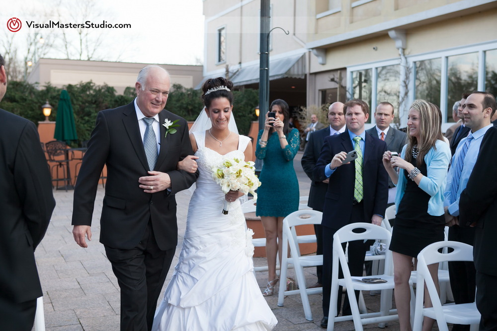 Bride Walking Down the Aisle at IL Tulipano by Visual Masters