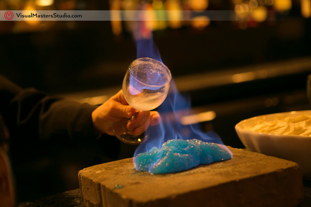 Flaming Cocktail at IL Tulipano by Visual Masters