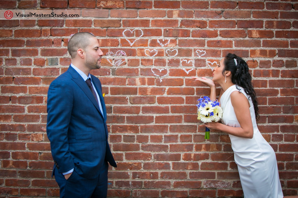 Blowing Hearts Brooklyn Elopement by Visual Masters