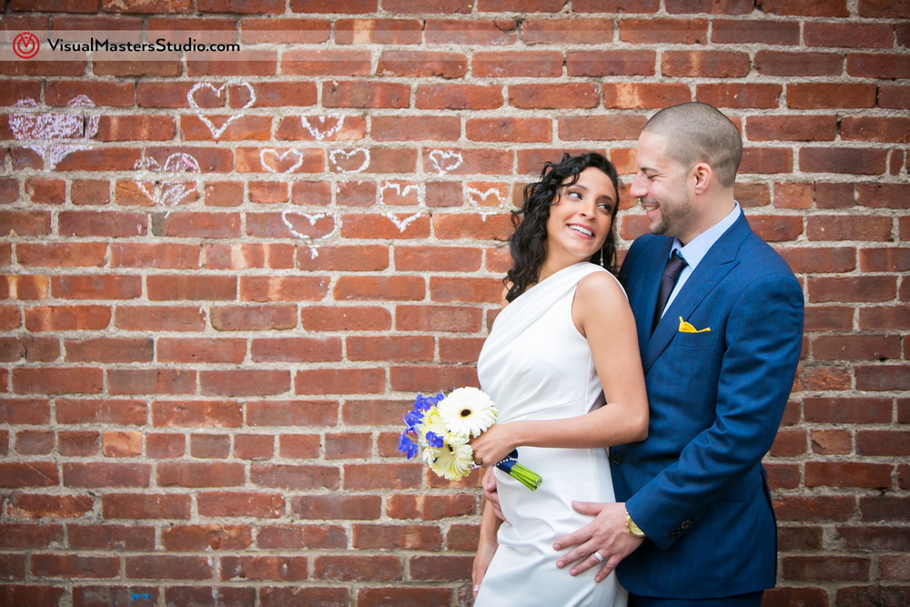 Bride and Groom Session Brooklyn Elopement by Visual Masters