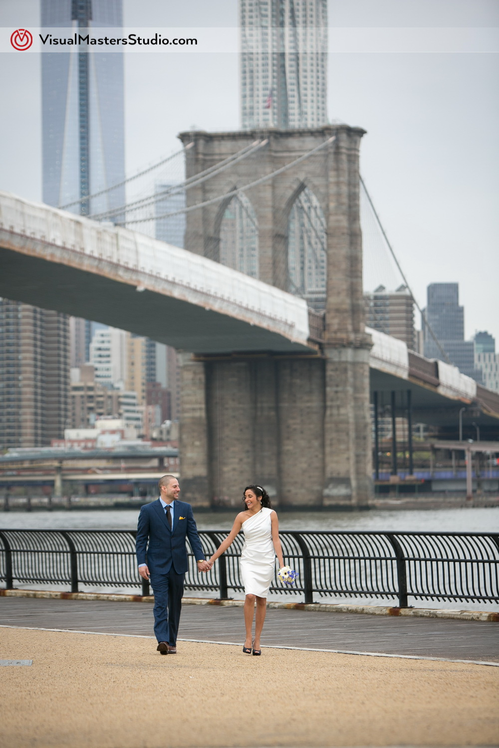 Brooklyn Bridge Park Photo Session Brooklyn Elopement by Visual Masters
