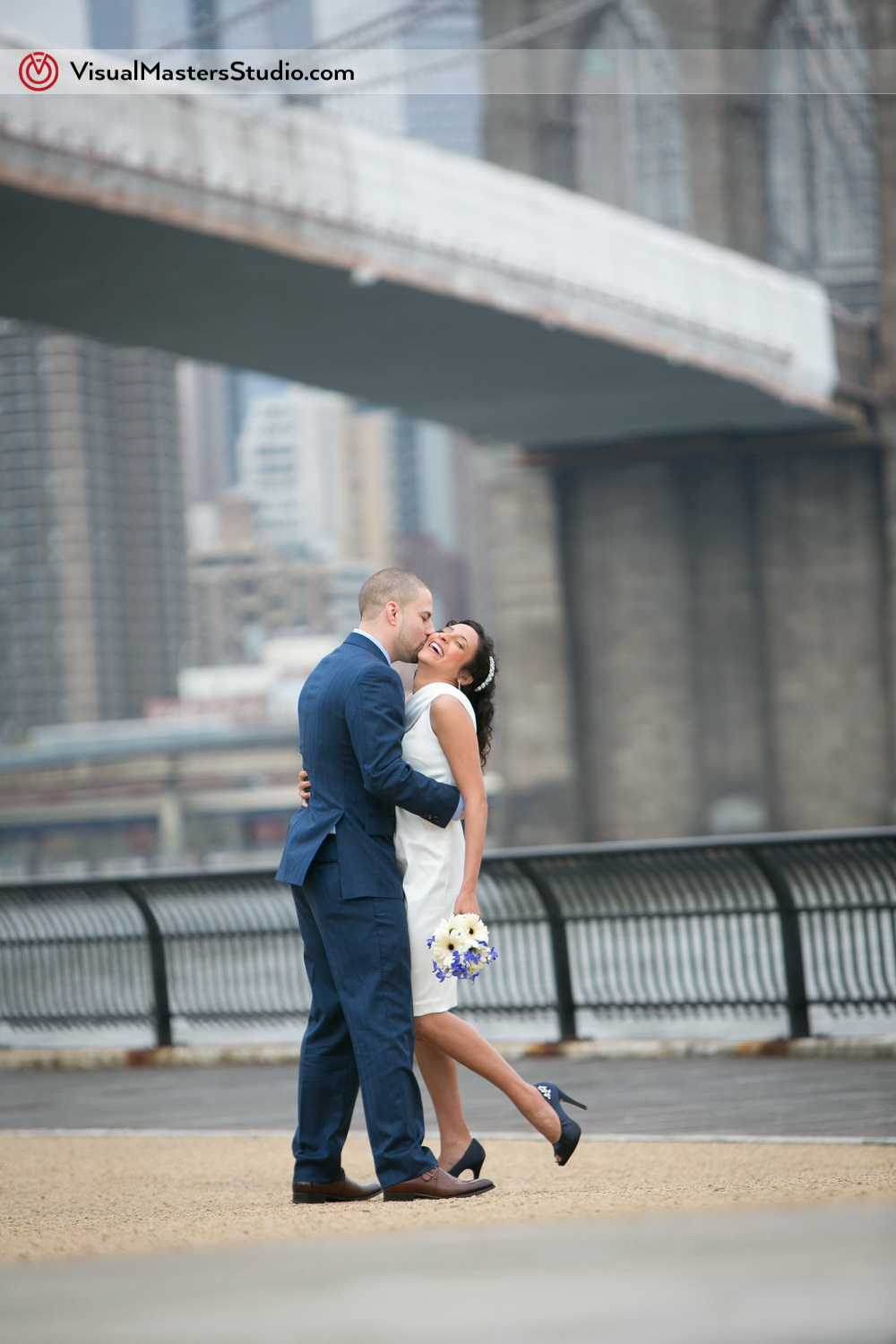 Passonate Kiss Brooklyn Elopement by Visual Masters