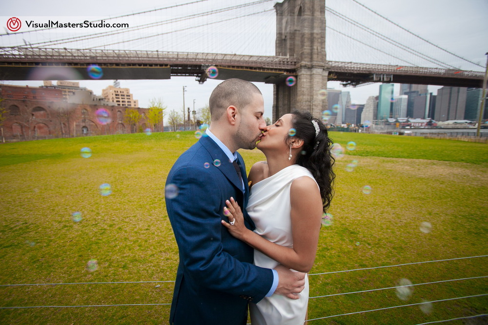 Kiss Brooklyn Elopement by Visual Masters