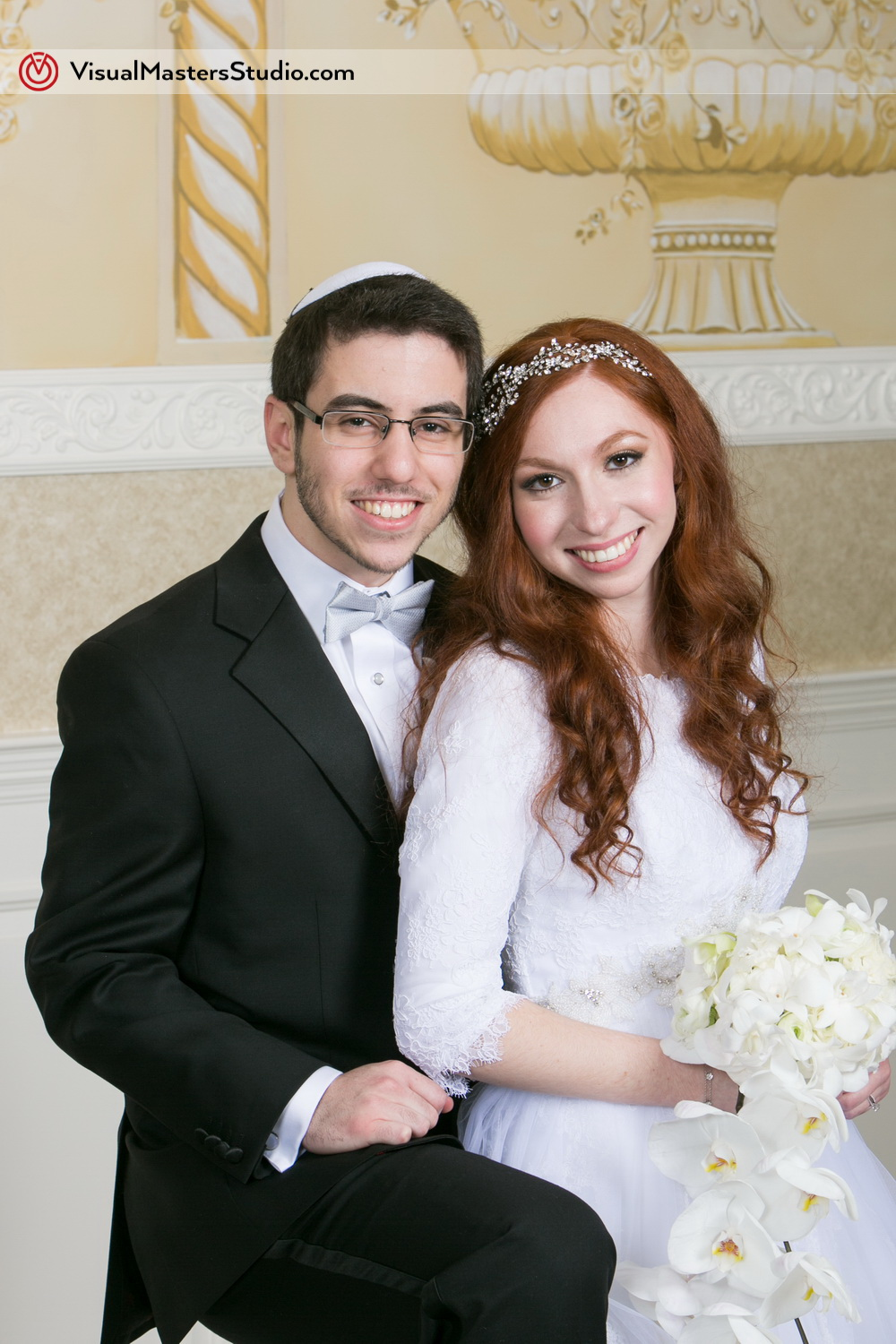 Bride and Groom Portrait at The Wilshire Grand by Visual Masters