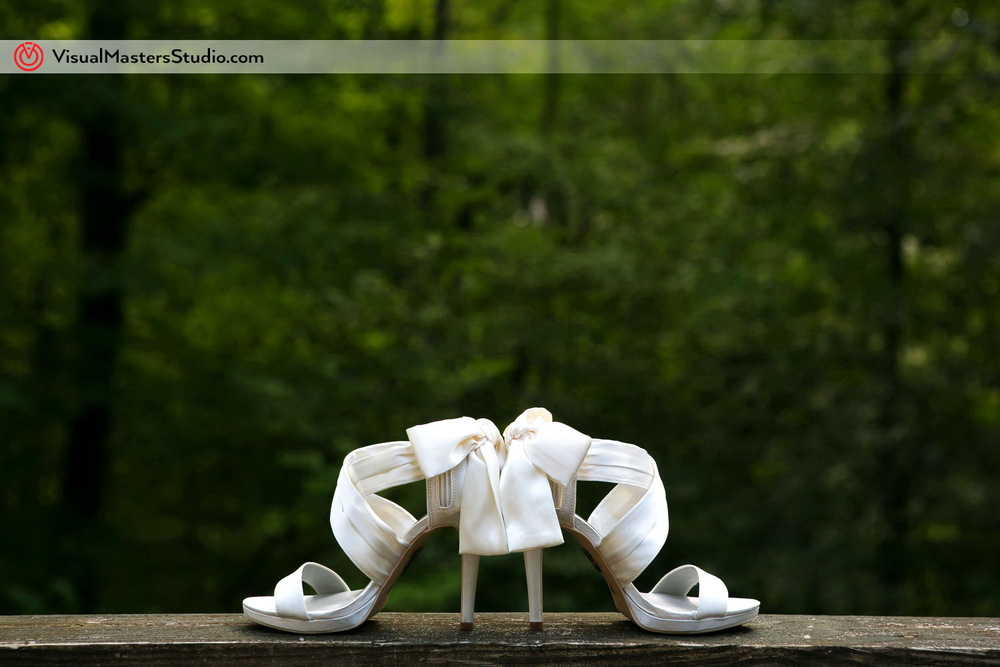 White Wedding Shoes by Visual Masters