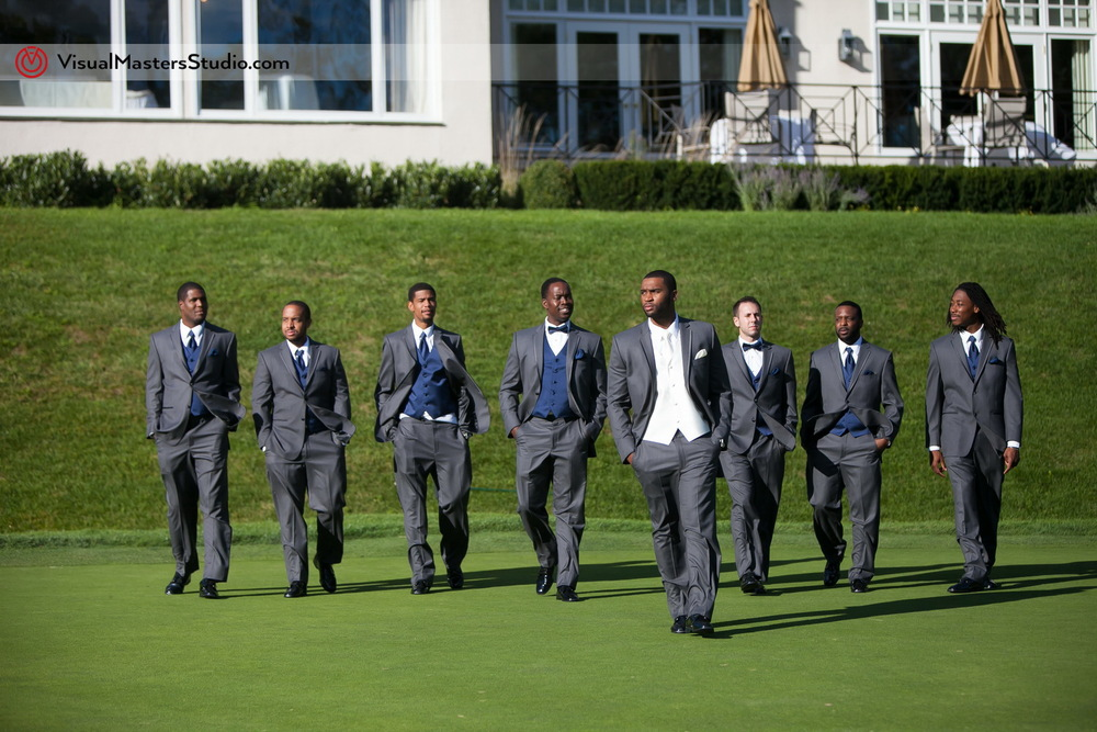 Groomsman Portrait at Preakness Hills Country Club by Visual Masters