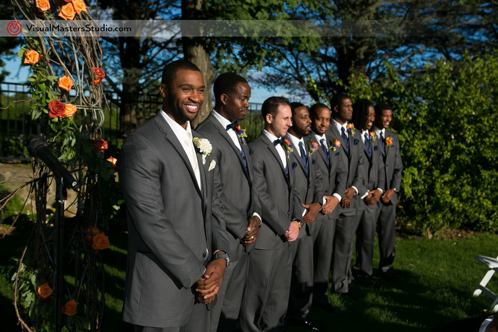 Seeing the Bride for the First Time  at Preakness Hills Country Club by Visual Masters