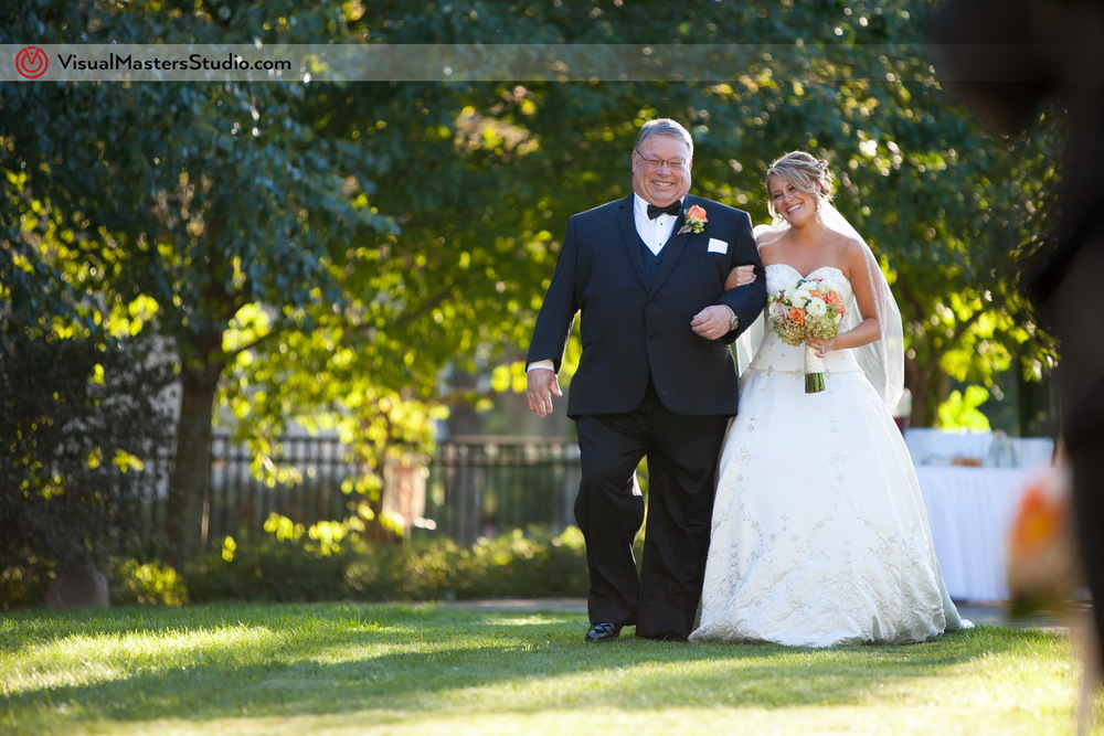 Outdoor Wedding Ceremony at Preakness Hills Country Club by Visual Masters
