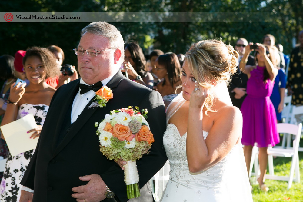 Bride Crying  at Preakness Hills Country Club by Visual Masters