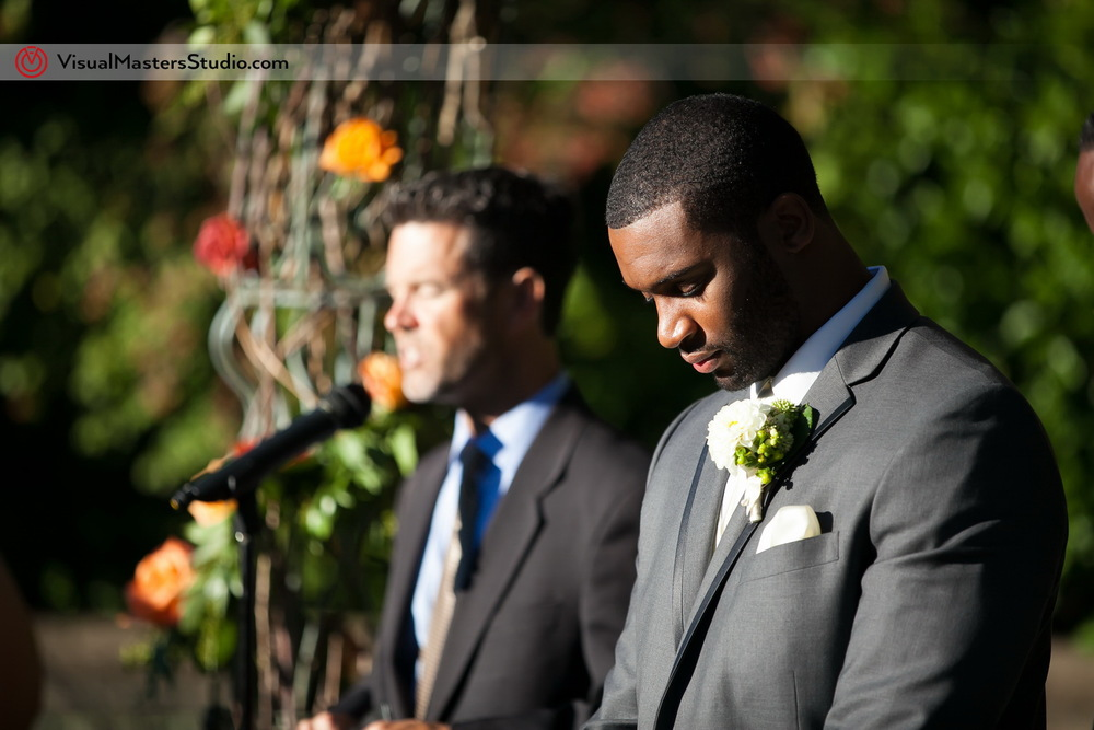 Groom Praying  at Outdoor Ceremony by Visual Masters