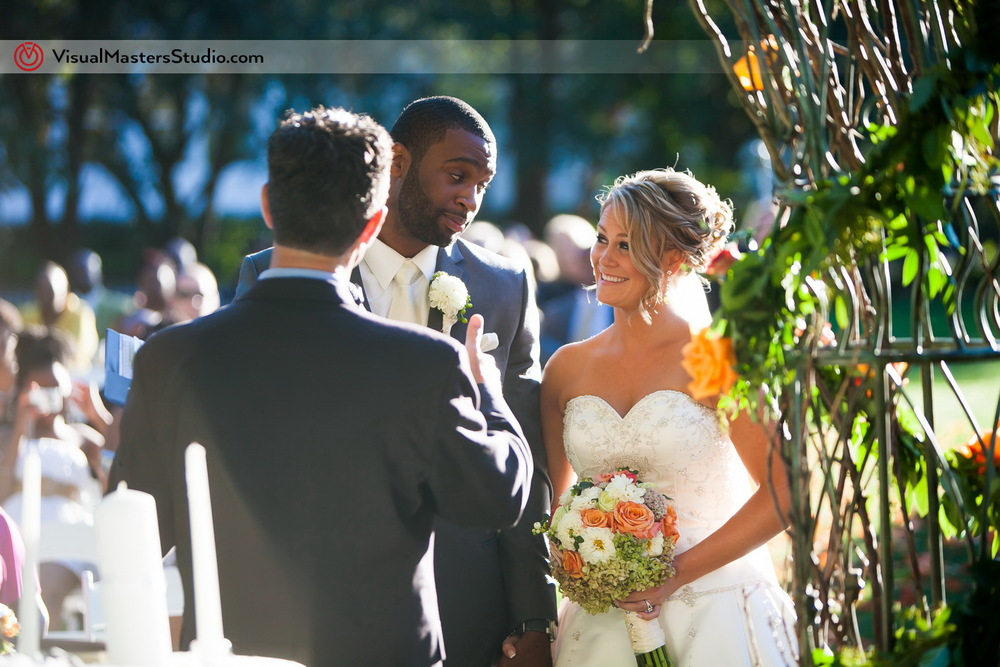 Candid Ceremony Shot  at Preakness Hills Country Club by Visual Masters