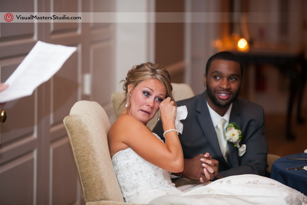 Wedding Toast at Preakness Hills Country Club by Visual Masters
