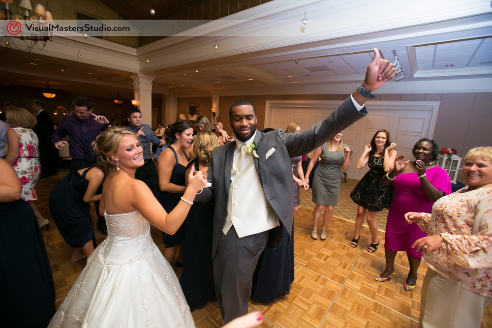 Bride and Groom Dancing  at Preakness Hills Country Club by Visual Masters