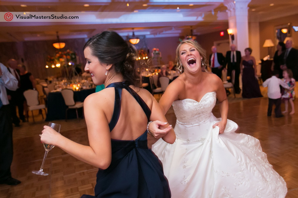 Bride and Braidsmaid Dancing at Preakness Hills Country Club by Visual Masters