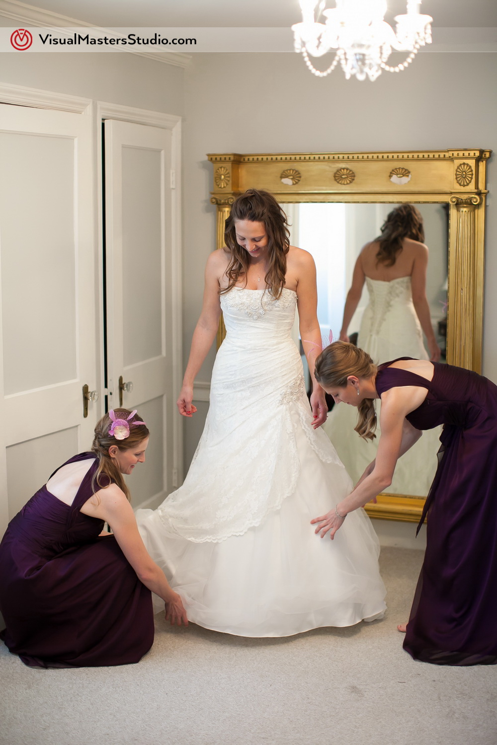 Bride Getting Ready at The Inn at Fernbrook Farms by Visual Masters