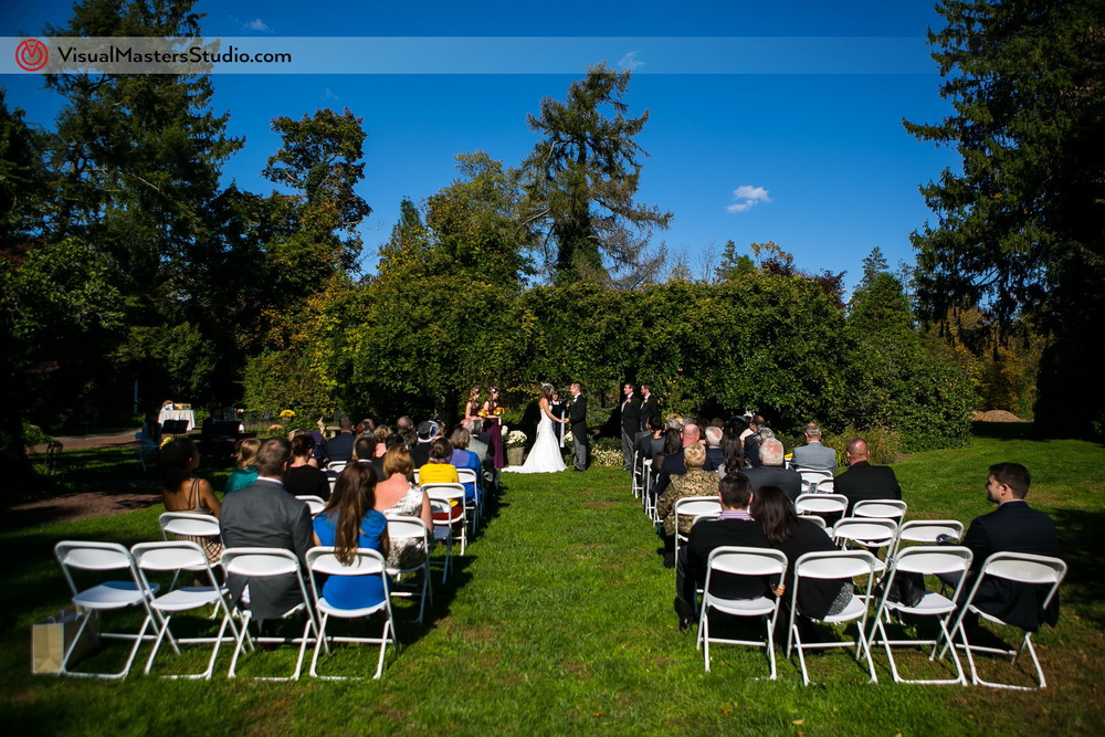 Outdoor Ceremony at The Inn at Fernbrook Farms by Visual Masters
