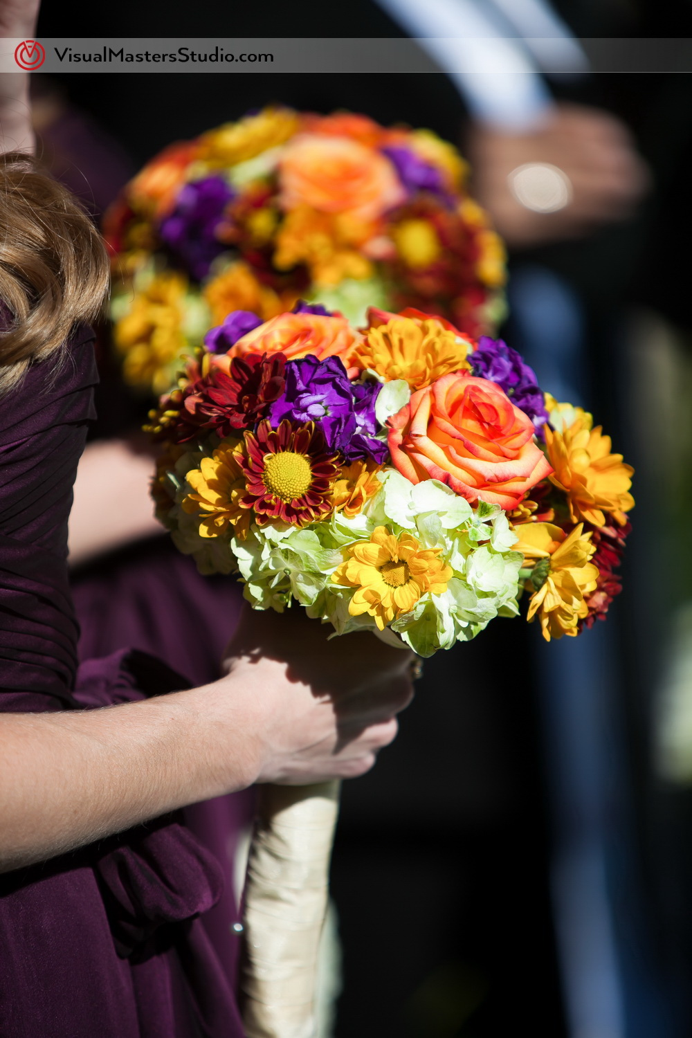 Colorfull Bridesmaid bouquet by Visual Masters