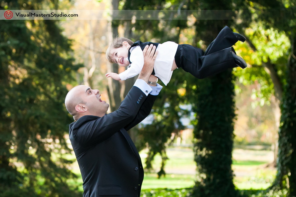 Ring Bearer having fun by visual Masters