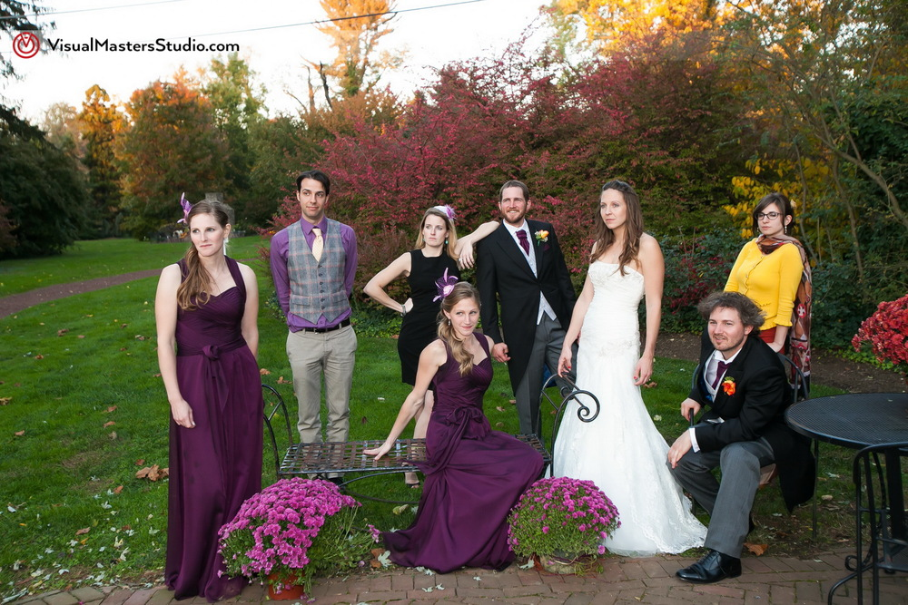 Wedding Party Posing by Visual Masters