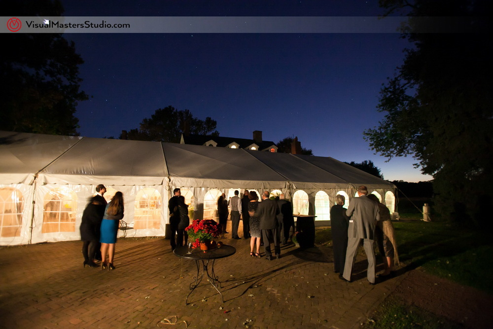 Tent at night at The Inn at Fernbrook Farms by Visual Masters