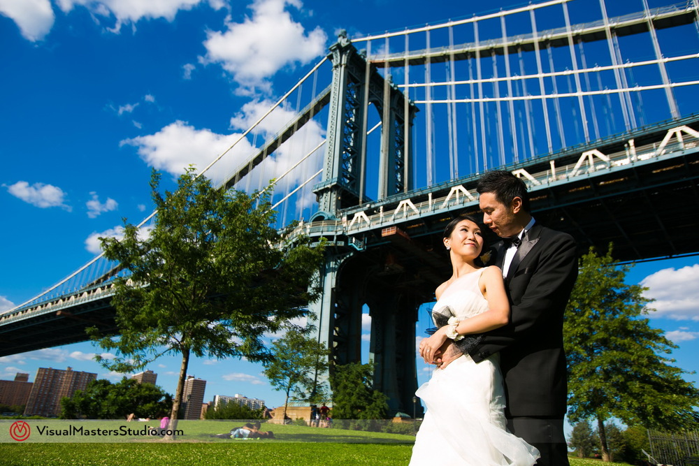 Manhattan Brige Bridal Session by Visual Masters