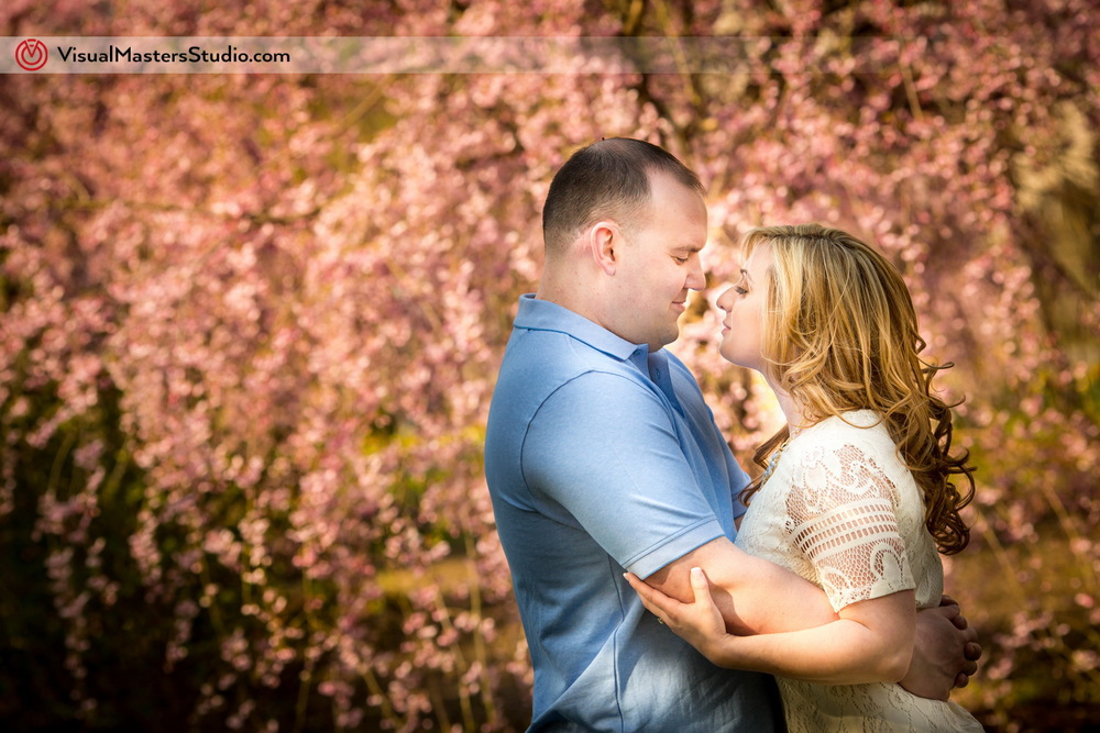 Cherry Blossom Engagement at Branch Brook Park by Visual Masers