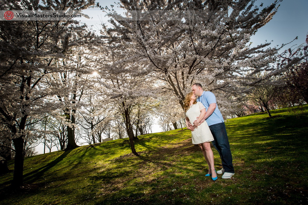 Engagement Portrait at Branch Brook Park by Visual Masers