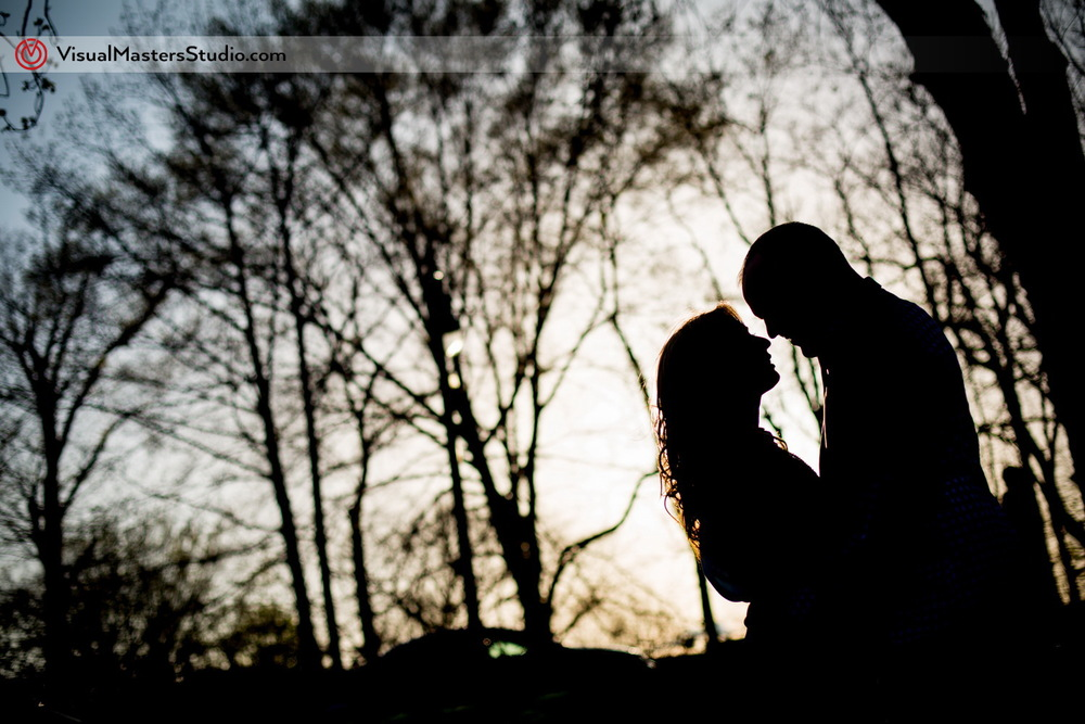 Sunset Engagement at Branch Brook Park by Visual Masters