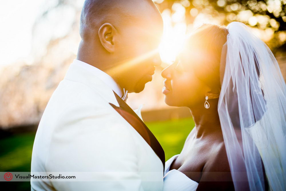 Sunset Bridal Portrait by Visual Masters
