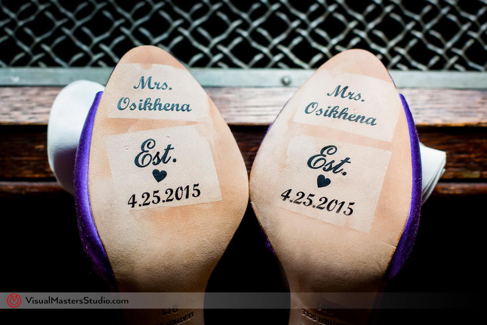 DIY Wedding Shoes Message by Visual Masters