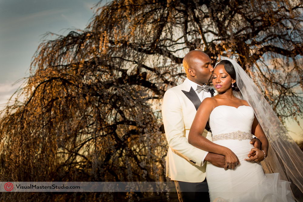 Sunset Bridal Portraits at Skylands Manor by Visual Masters