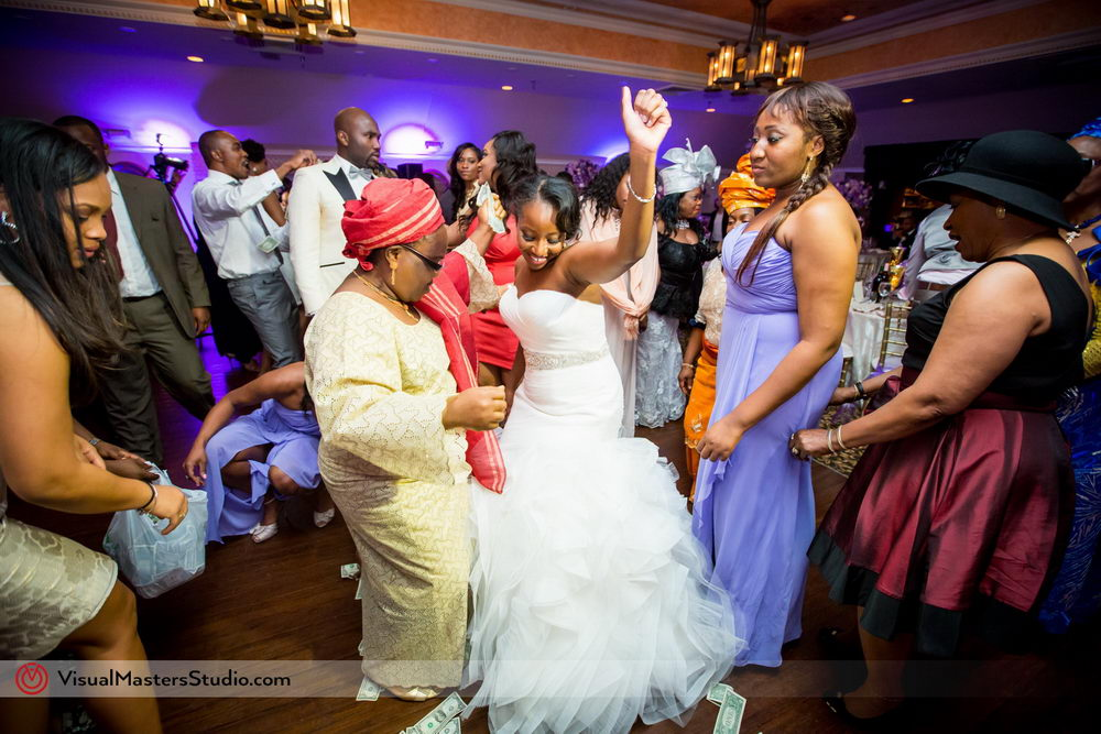 Bride Dancing With Wedding Party at Skylands Manor by Visual Masters
