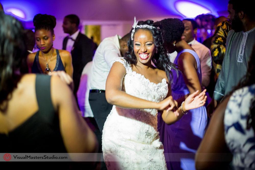 Beautiful Candid of the Bride Dancing at Skylands Manor by Visual Masters