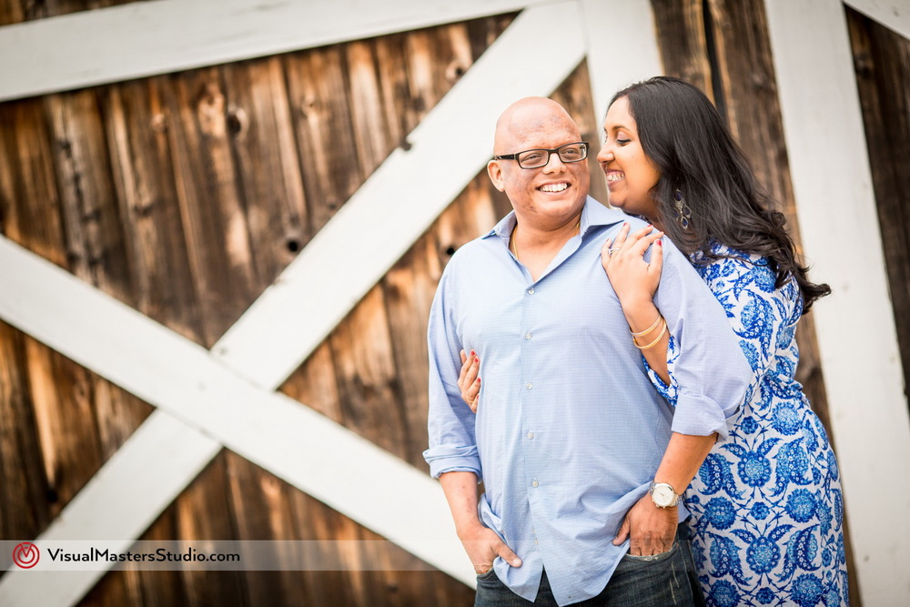 Rustic Barn Door Engagement at Paunamok Vineyards by Visual Masters