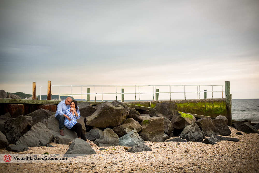 Engagement at the Beach by Visual Masters