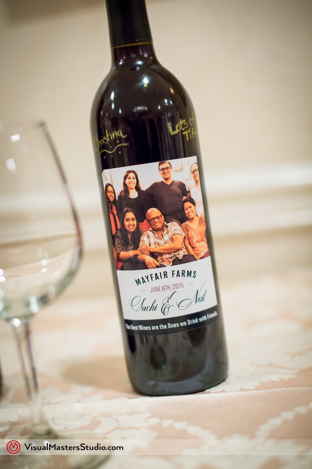 Mayfair Farms Custom Wine Bottle by Visual Masters