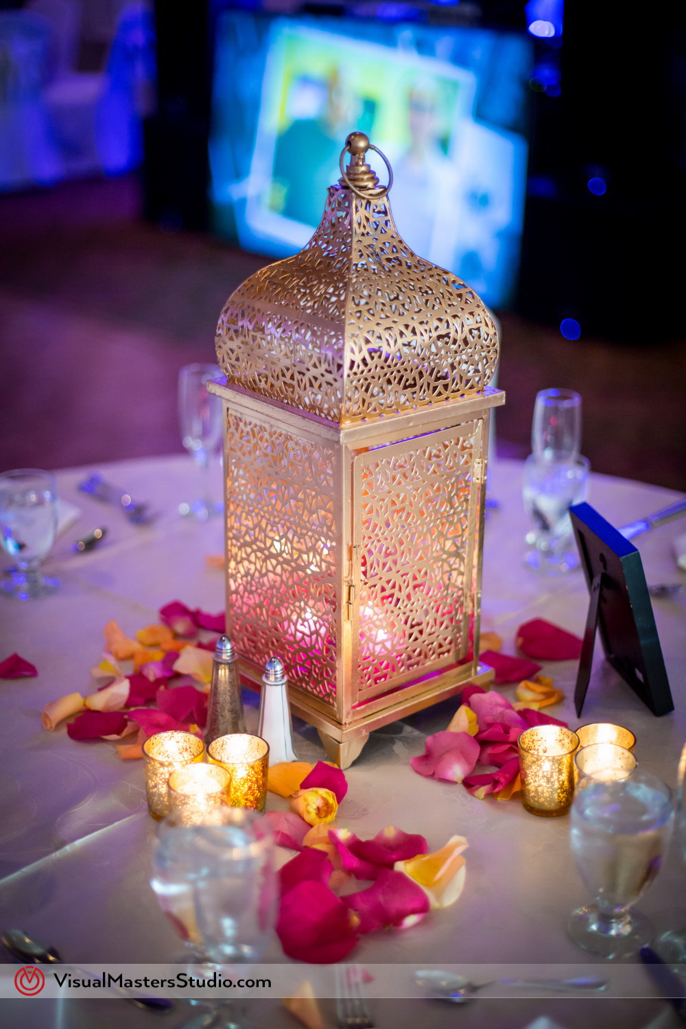 Indian Wedding Table Decoration at Mayfair Farms by Visual Masters