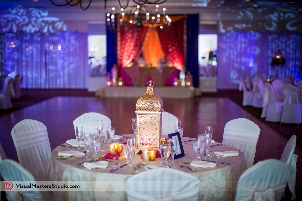 Table at Indian Wedding at Mayfair Farms by Visual Masters