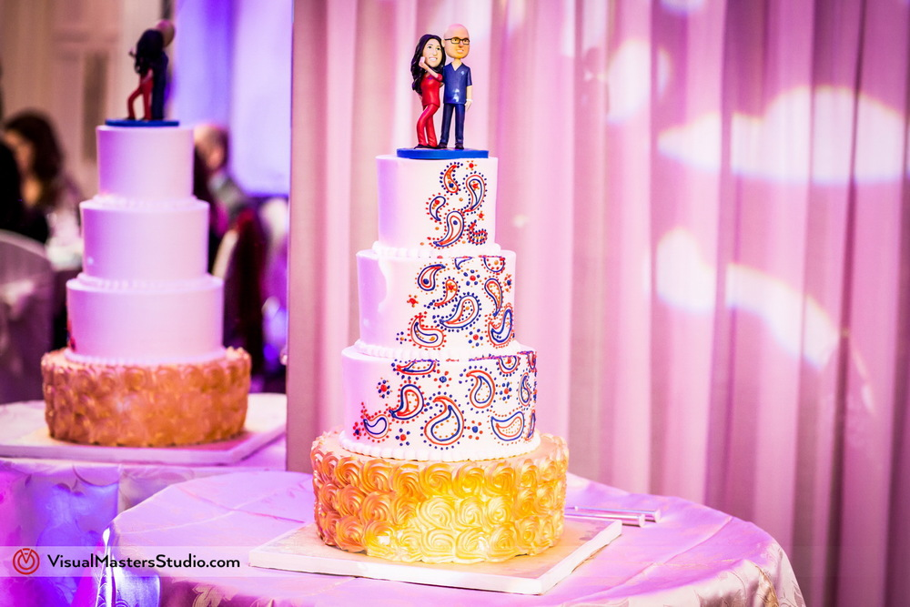 Modern Indian Wedding Cake by Visual Masters